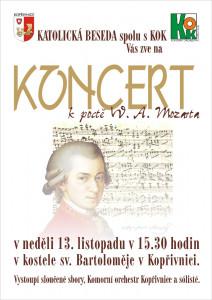 Koncert na počest Mozarta v Kopřivnici